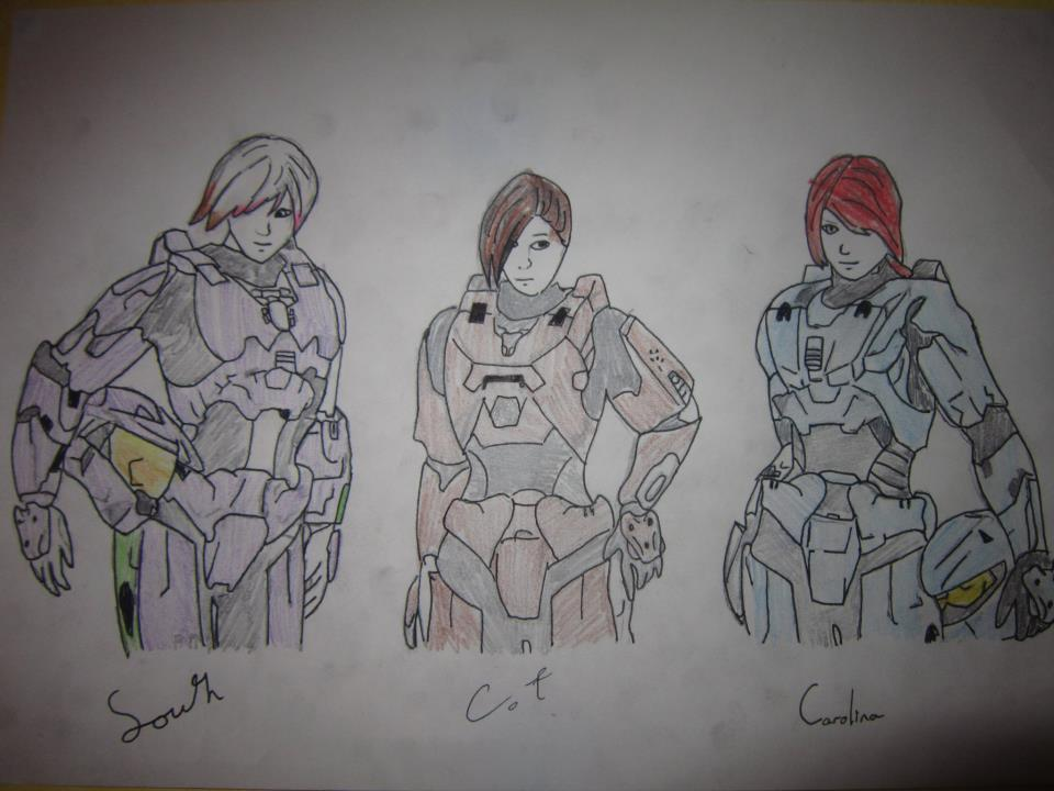 Line Drawing Wiki : Image a drawing of the girls in red vs blue g