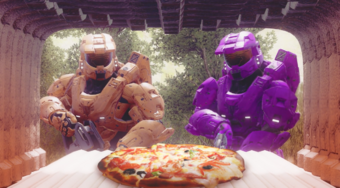 A Pizza The Action Red Vs Blue Wiki Fandom