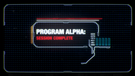 Program Alpha session complete