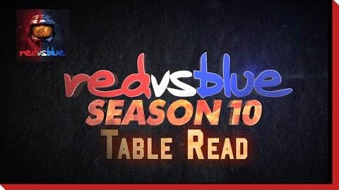 Behind the Scenes Table Read - Red vs. Blue Season 10