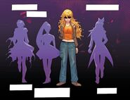 RWBY DC Comics 2 (Chapter 3) silhouettes of Yang's team