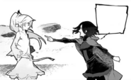 Chapter 1 (2018 manga), Ruby stands up to Weiss for mistake her as a child