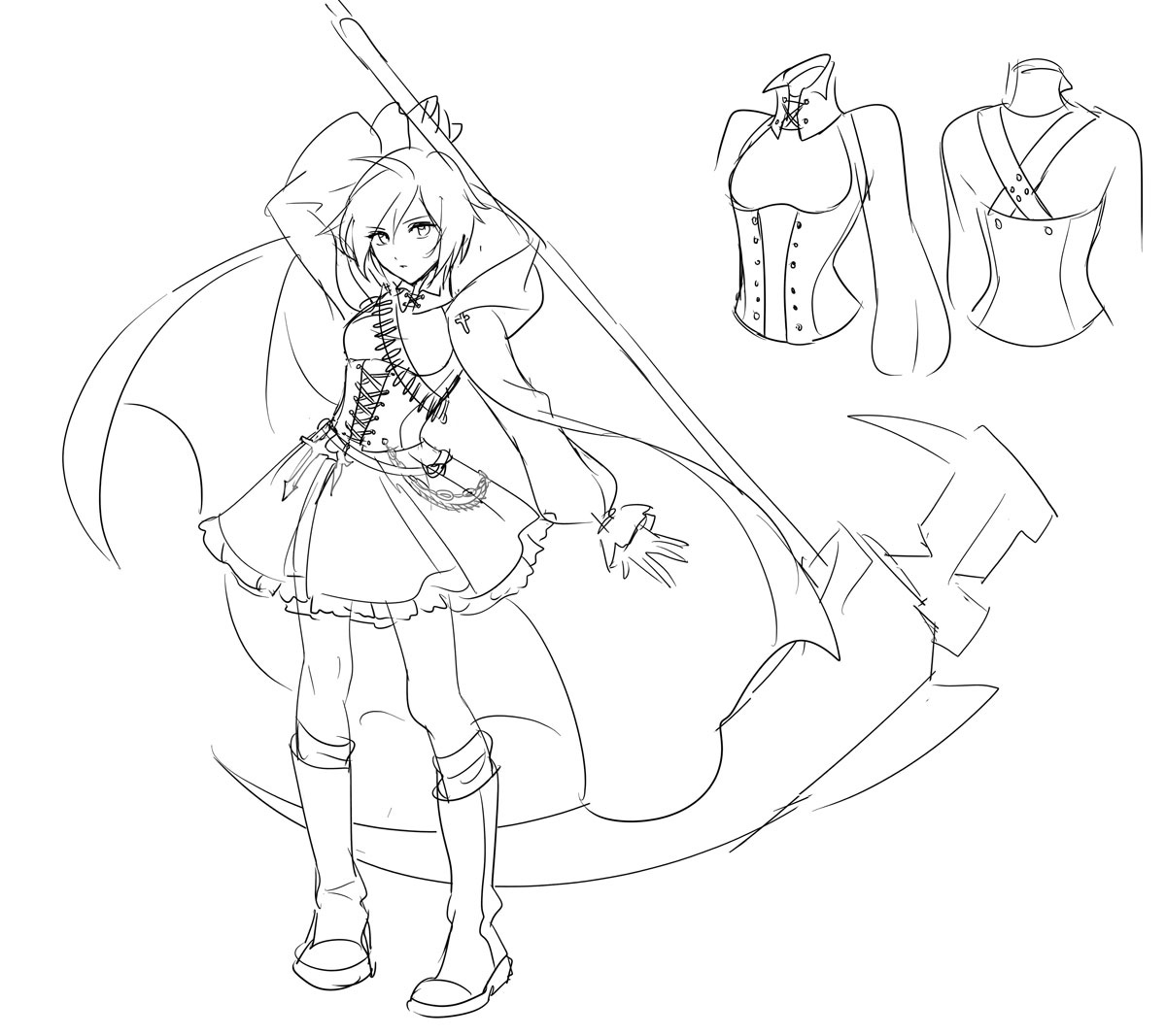 image ruby rose sketches jpg rwby wiki fandom powered by wikia