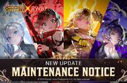 Knights Chronicle X RWBY promotional material of Team RWBY