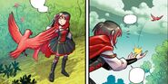 RWBY DC Comics 5 (Chapter 10) A red bird gives Ruby something