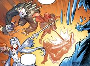 RWBY DC Comics 3 (Chapter 5) Weiss and Ruby fighting Grimms