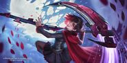 RWBY x SMITE promotional material of Classical Ruby Rose