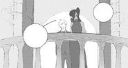Chapter 13 (2018 manga) Pyrrha explain to Jaune why she's alone
