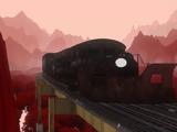 Black Cargo Train