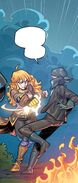 RWBY DC Comics 6 (Chapter 11) Yang fighting Picotee Pirate member