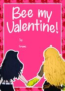 RWBY Valentine Day's 2019 card of Blake and Yang