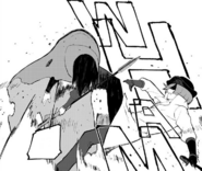 Chapter 19 (2018 manga) Ruby gets kicked by Roman