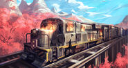 Rwby bilibili forever fall train art