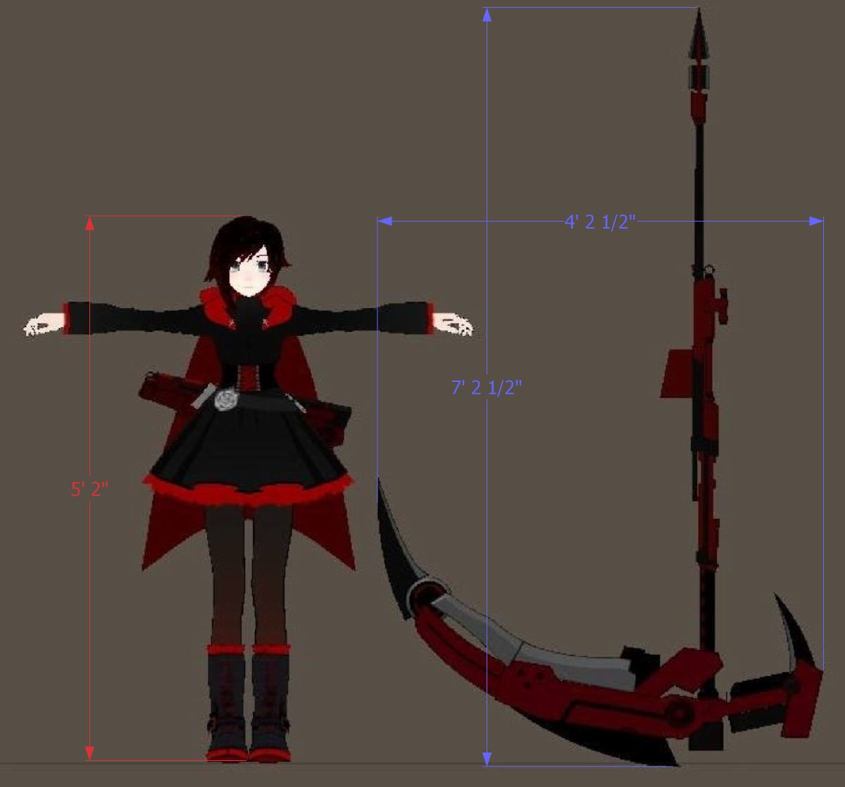 image crescent rose size ruby at 5 2 scale jpg rwby wiki