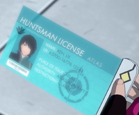 Ren's huntsman license