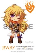 Chibi illustration of Yang Xiao Long for RWBY Manga Anthology Vol. 4 I Burn by Einlee