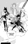 Chapter 16 (2018 manga) Team RWBY, Oobleck and Zwei prepare to fight