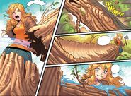 RWBY DC Comics 2 (Chapter 3) Yang chopping a tree