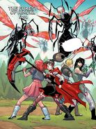 RWBY DC Comics 1 (Chapter 2) Team RNJR fights a horde of Lancers 01