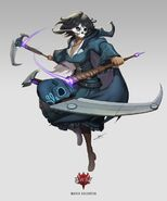Amity Arena character art of the Grimm Reaper, Maria Calavera