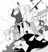 Chapter 17 (2018 manga) Sun and Neptune arrive in Vale
