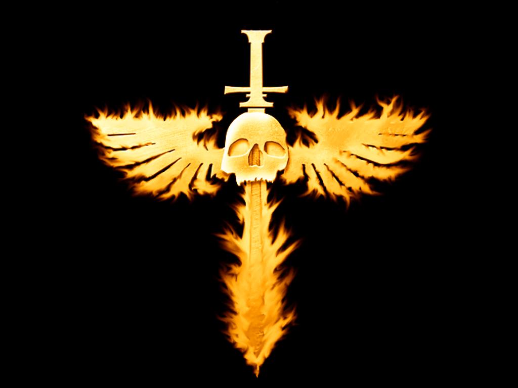 Flaming Winged Skull Wallpaper 1027