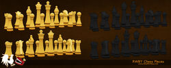 Rwby chess pieces by bretmcnee-d6w4rt6
