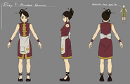 Higanaba Inn waitress concept art