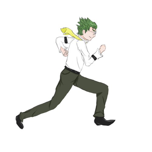 Transparent Oobleck running by nyanperonaprince