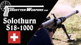 Solothurn S18-1000 The Pinnacle of Anti-Tank Rifles