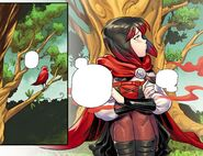 RWBY DC Comics 5 (Chapter 10) Ruby talking to a red bird about her problems