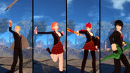 RWBY GE DLC screenshot of Team JNPR Beacon Academy Costume