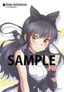 Illustration postcard of Blake Belladonna for Japanese Dub Volume 3 by mojojoj