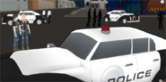 Police cars in the last ep