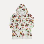 RWBY Kawaii Women's Floral Print Zip-Up Hoodie