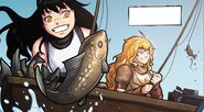 RWBY DC Comics 4 (Chapter 7) Yang and Blake fishing at a lake