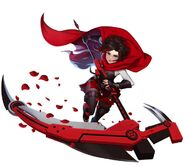 Amity Arena character art of Ruby Rose (Atlas outfit)