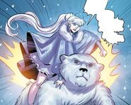 RWBY DC Comics 7 (Chapter 13) Weiss riding a polar bear