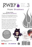 RWBY Official Manga (Vol. 3 From Shadows, US) Back cover