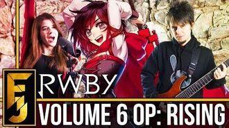 "RWBY Volume 6 Intro - ""Rising"" Metal Guitar Cover (feat. Adriana Figueroa) FamilyJules"