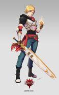Amity Arena character art of Boundless Jaune