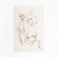 RWBY Limited Edition Penny Polendina Sketch Page Print