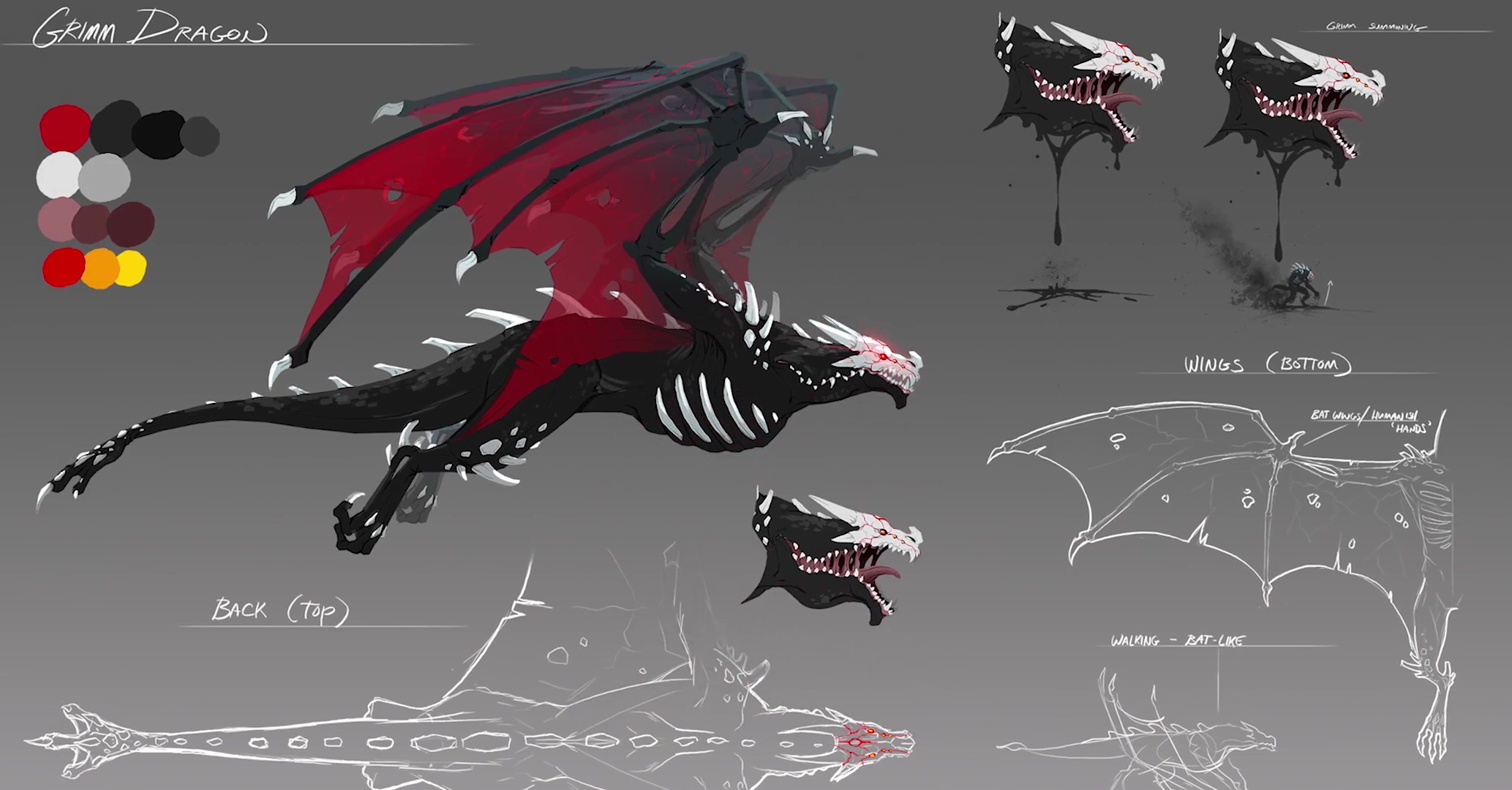 image grimm dragon concept art png rwby wiki fandom powered by