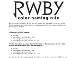 Color Naming Rule