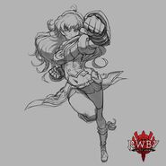 RWBY Amity Arena concept art of Yang Xiao Long