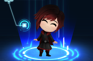 RWBY Crystal Match Ruby Rose's default outfit