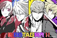 BBTAG Illustration Japan release of Ruby, Ragna, Yu, and Hyde