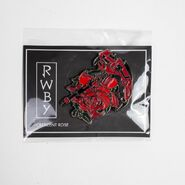 RWBY Crescent Rose Floral Pin