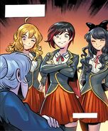 RWBY DC Comics 3 (Chapter 5) Weiss' team comforts her