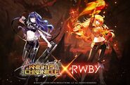 Promotional Material of Blake and Yang for Knights Chronicle X RWBY collaboration